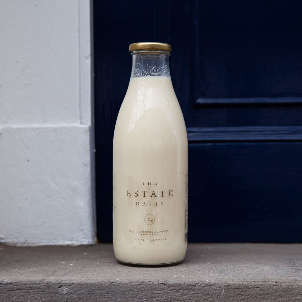 Jersey Whole Milk (Glass Bottle) Milk The Estate Farm