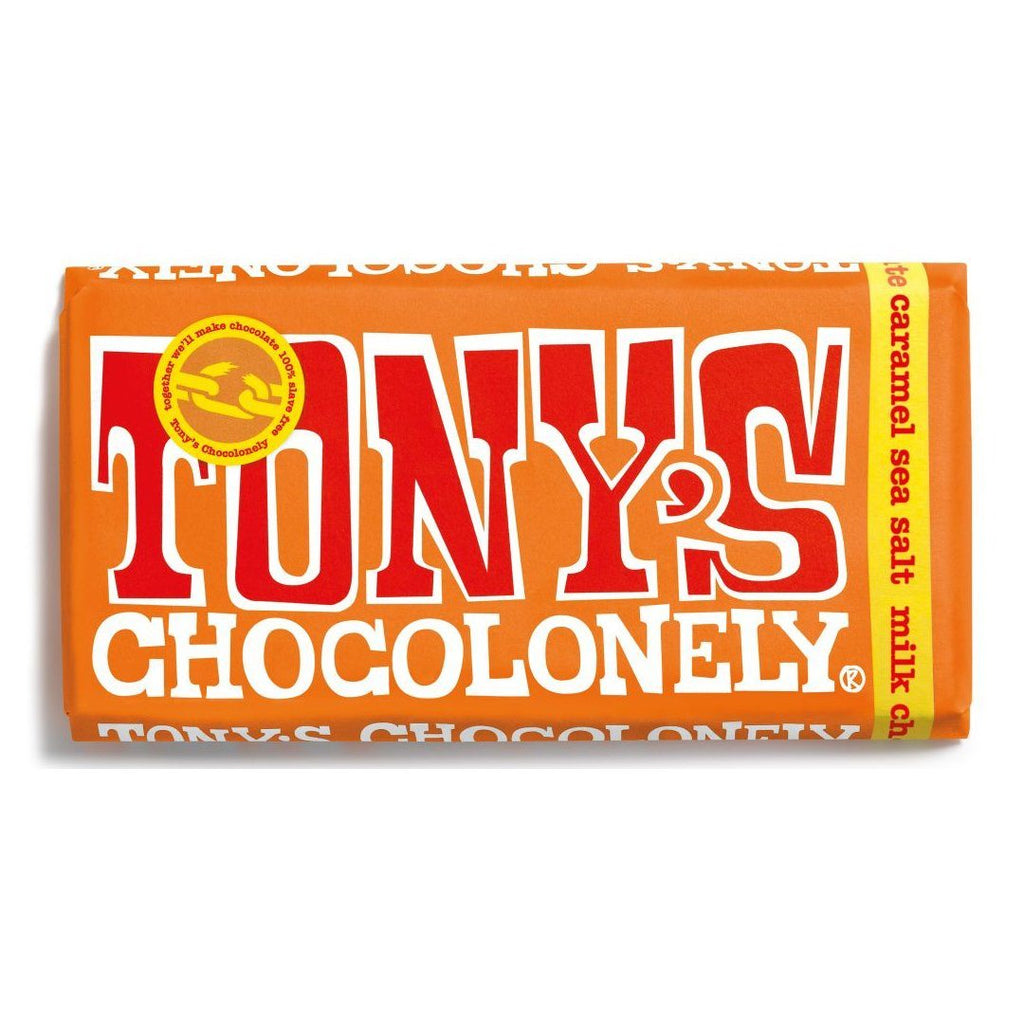 Milk Chocolate, Caramel & Sea Salt Confectionary - Sweets Tony's Chocolonely