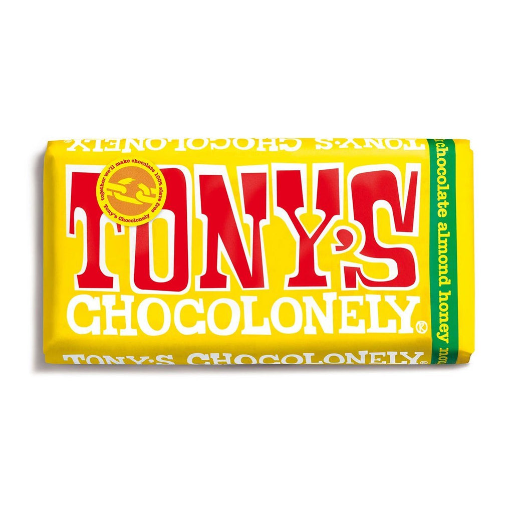 Milk Chocolate Honey Almond Nougat Confectionary - Sweets Tony's Chocolonely