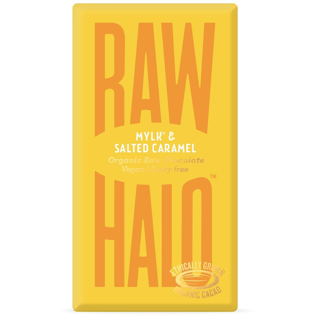 Mylk & Salted Caramel Organic Raw Chocolate Bar Confectionary - Sweets Raw Halo