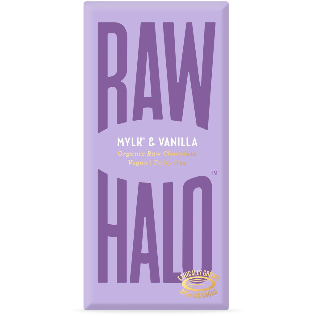 Mylk & Vanilla Organic Raw Chocolate Bar Confectionary - Sweets Raw Halo