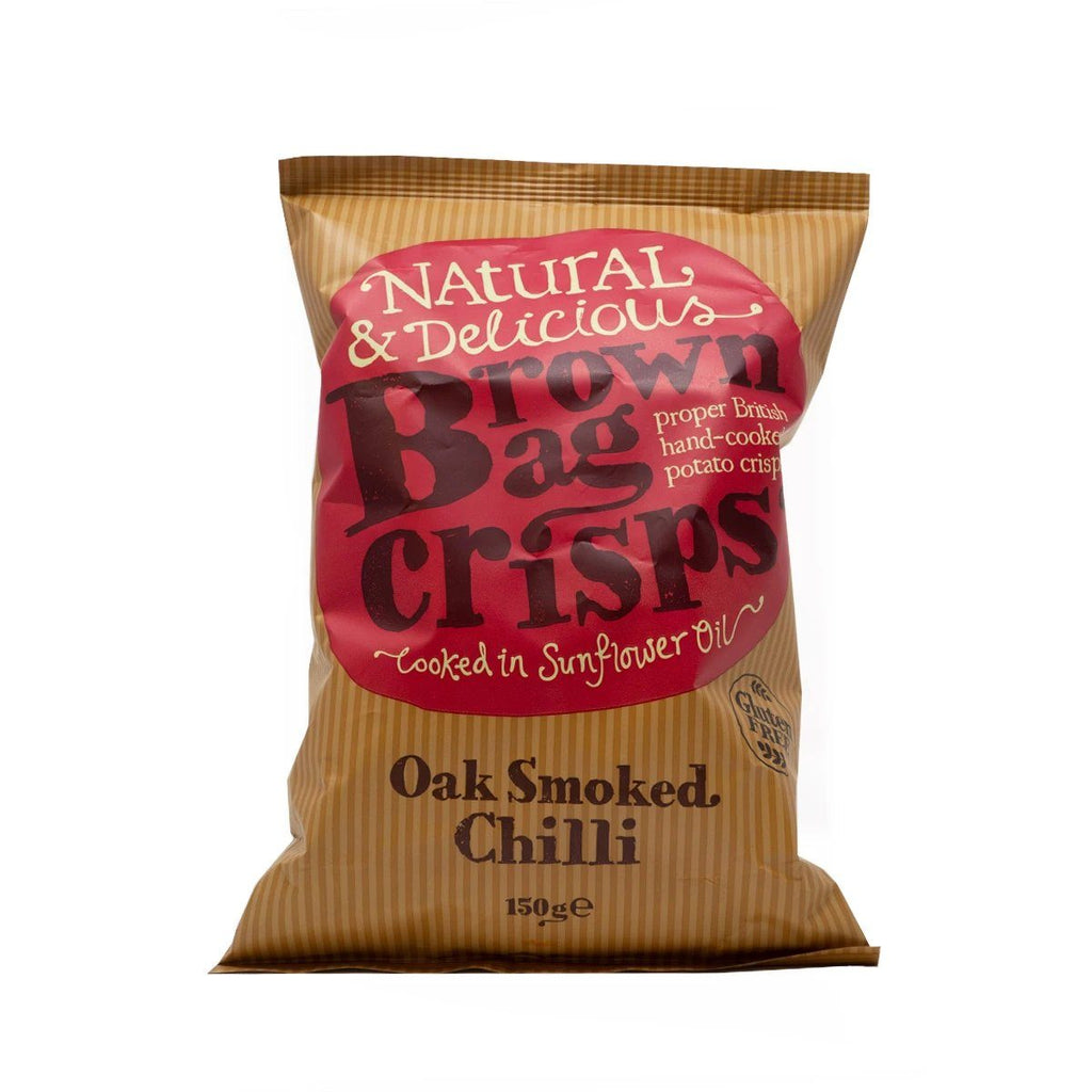 Oak Smoked Chilli Crisps Crisps, Snacks & Nuts Brown Bag Crisps