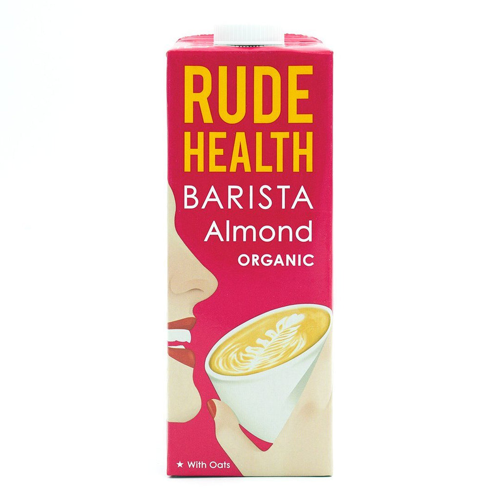 Organic Barista Almond Drink Milk Alternative Rude Health