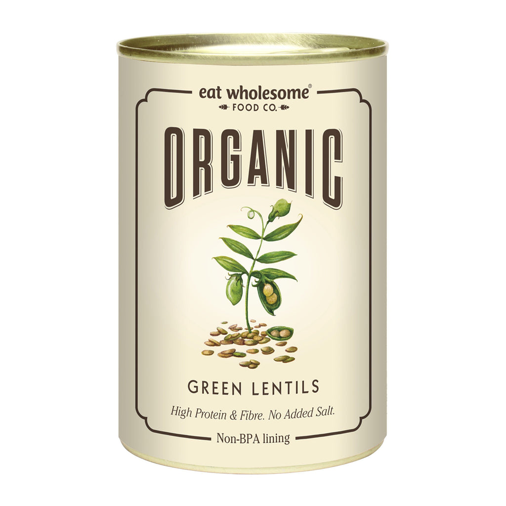 Organic Green Lentils Tinned Goods Eat Wholesome