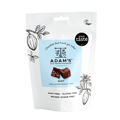 Organic Mint Cold-Pressed Chocolate Pouch Confectionary - Sweets Adam's Cold Pressed Chocolate