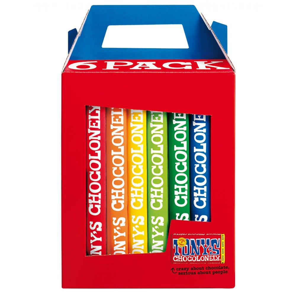 Rainbow Gift Pack (6 x Chocolate Bars) Confectionary - Sweets Tony's Chocolonely