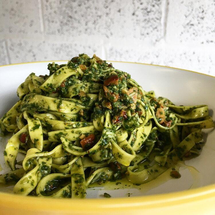 Roast Cashew & Walnut Pesto Pasta Little Hollows Pasta Co.