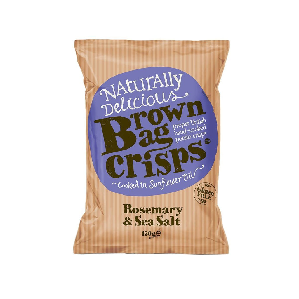 Rosemary & Sea Salt Crisps Crisps, Snacks & Nuts Brown Bag Crisps