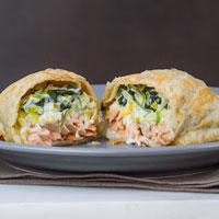Salmon & Spinach En Croute Ready Meals Fishers Restaurant