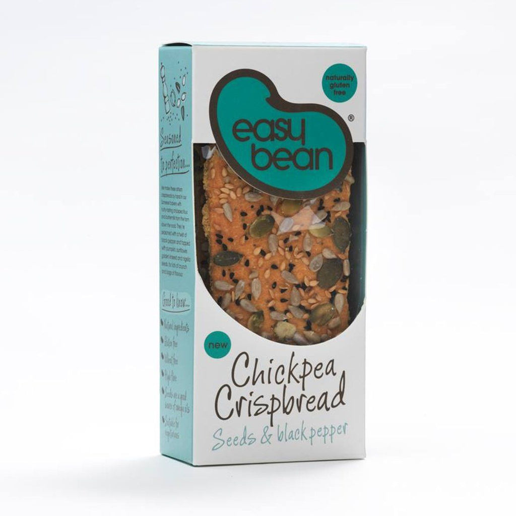 Seeds & Black Pepper Chickpea Crispbread Bread Snack Easy Bean