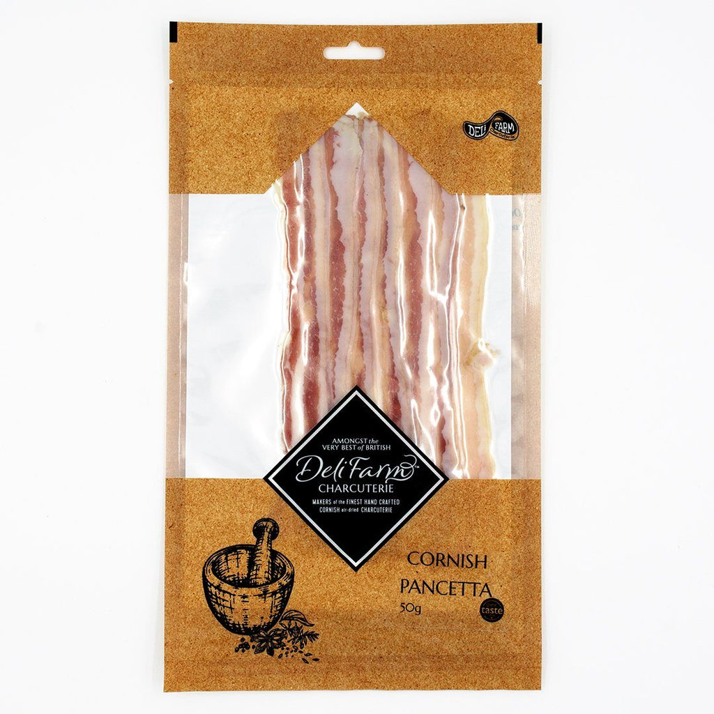 Sliced Cornish Pancetta Cured Meat Deli Farm Charcuterie