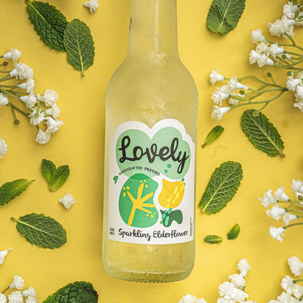 Sparkling Elderflower Soft Drinks Lovely Drinks