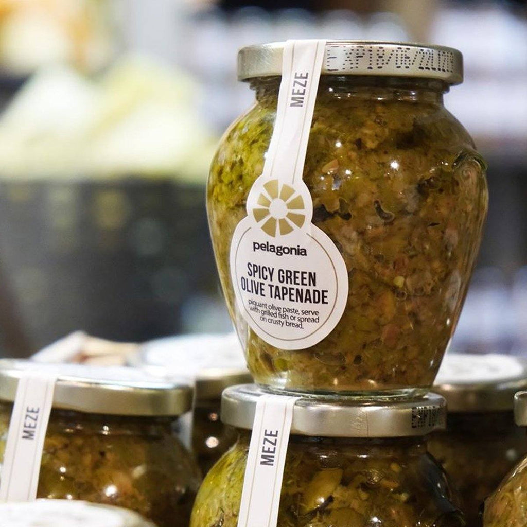 Spicy Green Olive Tapenade Antipasti Pelagonia
