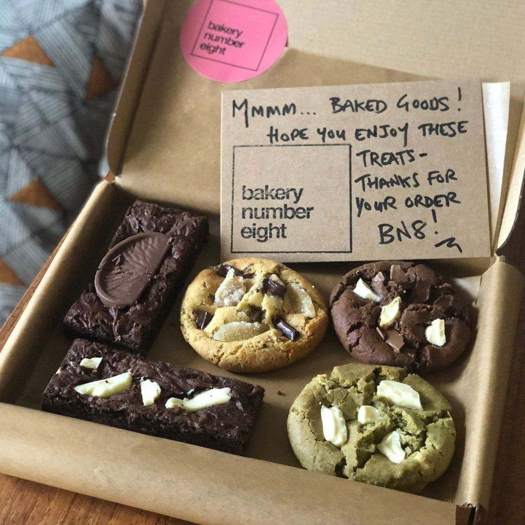 Tasting Selection: Brownies & Cookies Confectionary - Bakery Bakery Number Eight