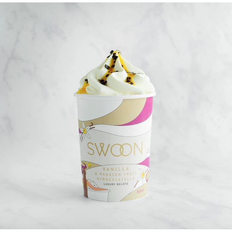 Vanilla & Passion Fruit Stracciatella Gelato Ice Cream & Frozen Desserts Swoon