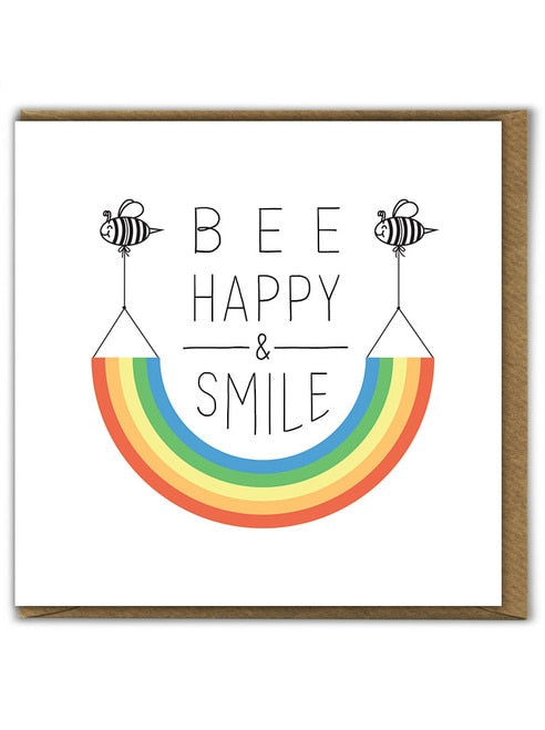 Bee Happy & Smile Card