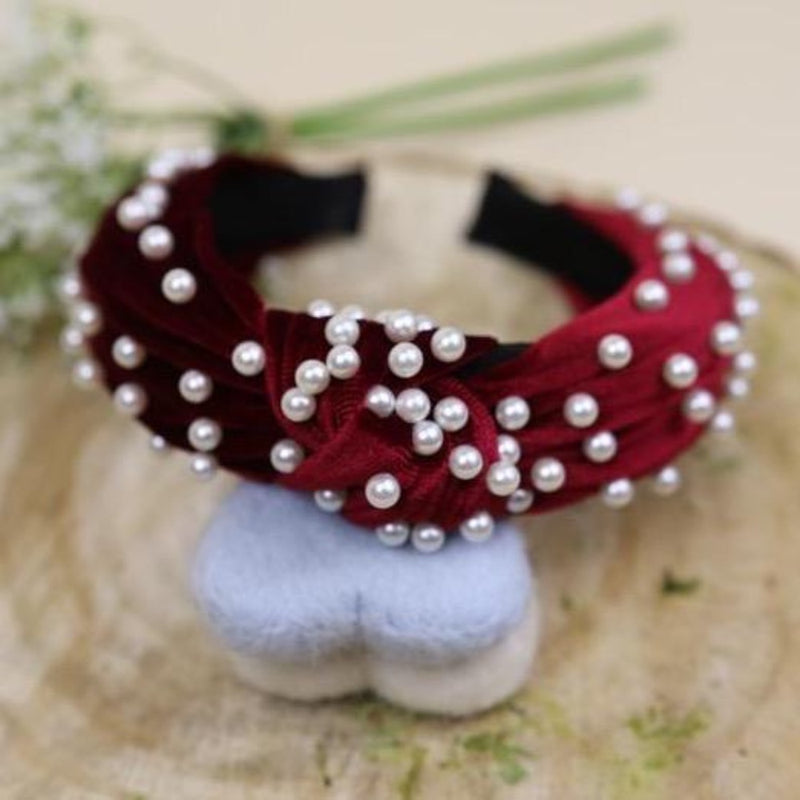Red Pearl Hairband