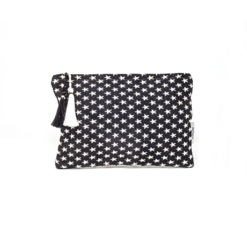 Miami Make-up Pouch Black & White Stars