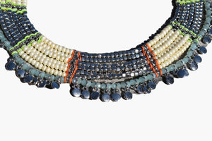 Fresh Water Pearl & Seed Bead Collar Beaded Necklace