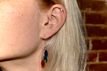 Load image into Gallery viewer, Holiday Crystal Lights Earrings