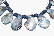 Load image into Gallery viewer, Blue Rainbow Abalone Shell Beaded Necklace
