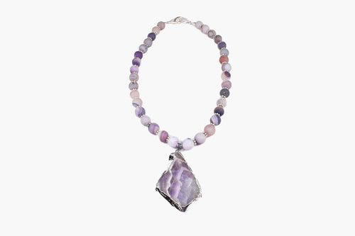 Amethyst Beaded Pendant Necklace