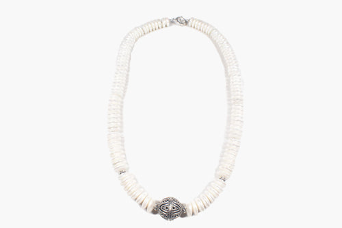 Fresh Water Pearl Bali Silver Necklace