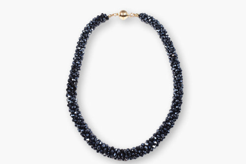 Dark Blue Gemstone Beaded Necklace