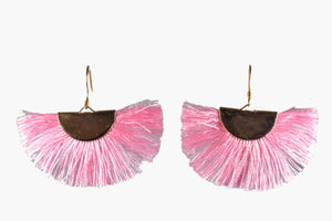 Pink Fringe Flare Earrings