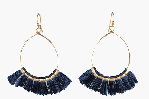 Royal Blue Flare Drop Earrings