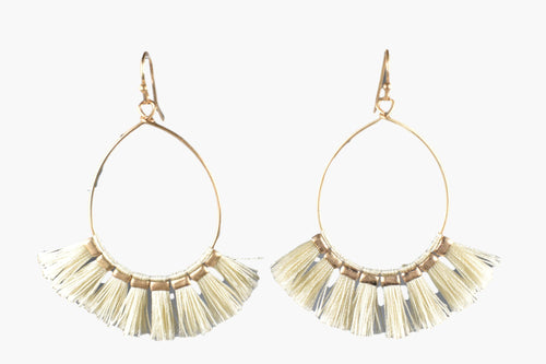 Ivory Fringe Flare Earrings