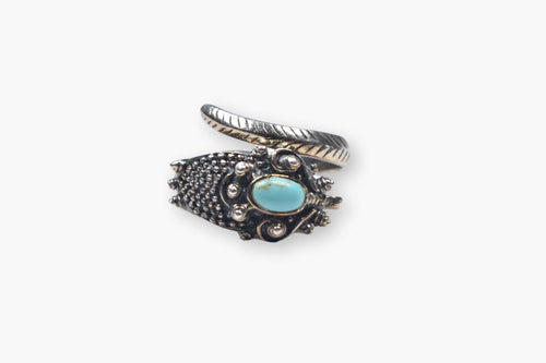 Sterling Silver & Turquoise Snake Wrap Ring
