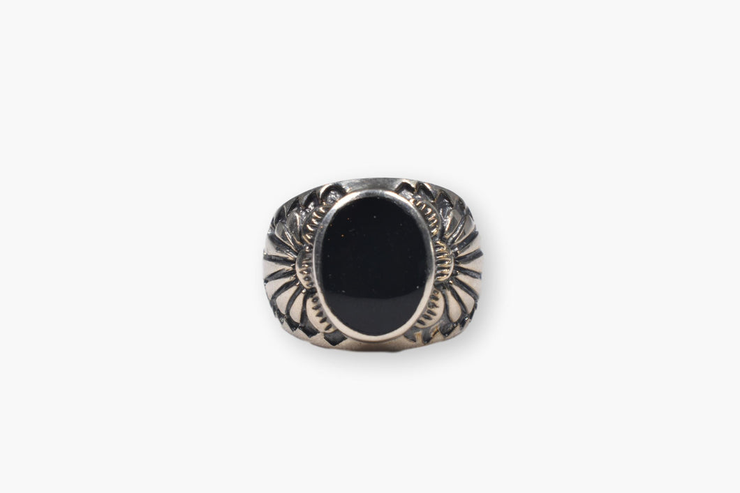 Sterling Silver & Obsidian Ring