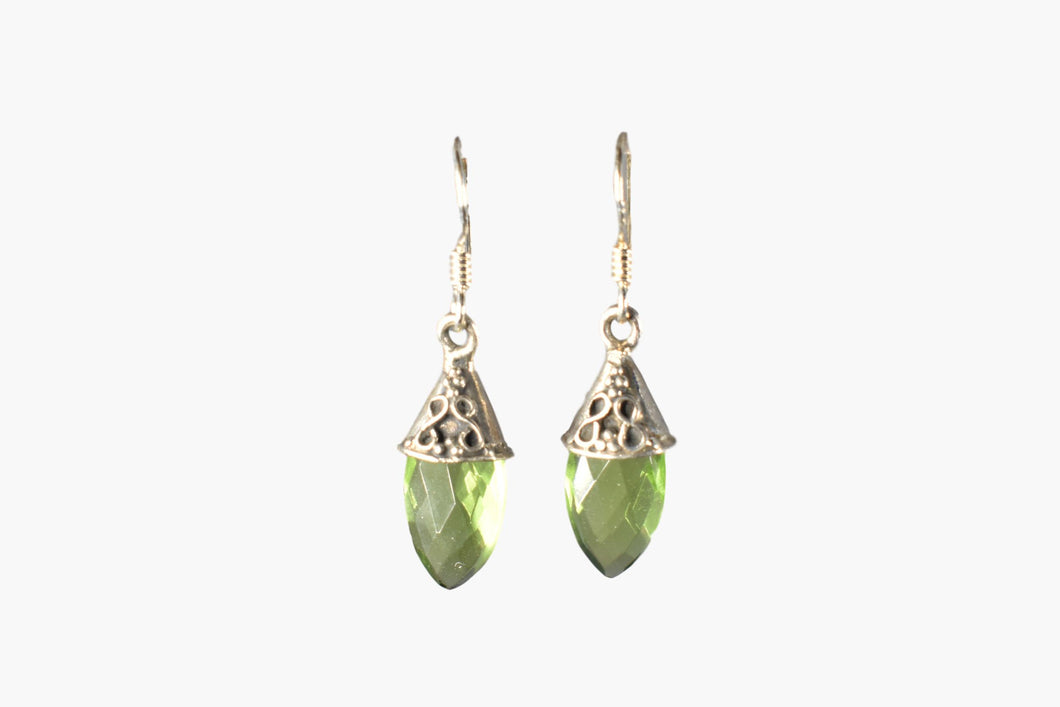 Peridot & Sterling Silver Drop Earrings