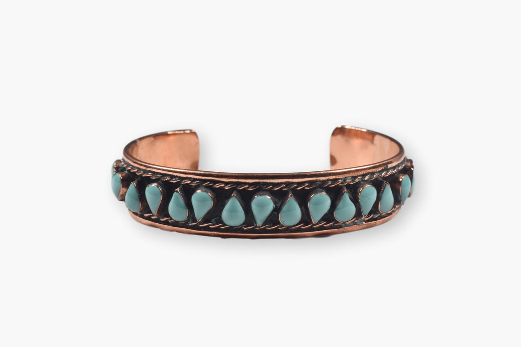 Copper Bracelet with Turquoise