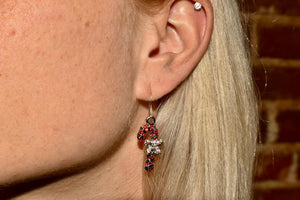 Holiday Crystal Candy Cane Earrings