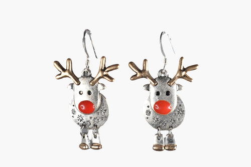 Reindeer Holiday Earrings