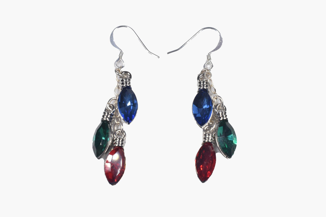 Crystal Holiday Lights Earrings