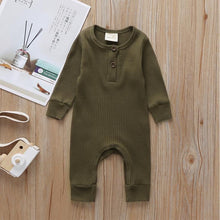 Load image into Gallery viewer, Baby Boy / Girl Cotton Knitted Style Solid Cardigan Long-sleeve Jumpsuit