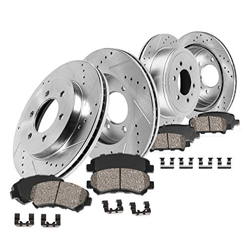 Front and Rear 6 Lug Brake Rotors Metallic Pads For 2010 2011 FORD F150