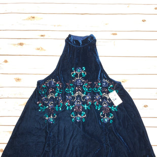 Primary Photo - BRAND: FREE PEOPLE STYLE: DRESS SHORT SLEEVELESS COLOR: BLUE SIZE: S SKU: 232-23280-47805VELVET MATERIAL