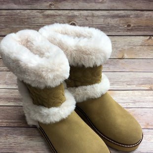 Primary Photo - BRAND: COACH STYLE: BOOTS ANKLE COLOR: CAMEL SIZE: 9.5 OTHER INFO: NEW! SKU: 232-23280-50518