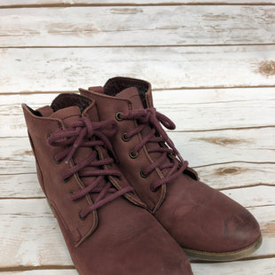 Primary Photo - BRAND: STEVE MADDEN STYLE: BOOTS ANKLE COLOR: MAROON SIZE: 8 OTHER INFO: AS IS SKU: 232-23280-46521