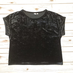 Primary Photo - BRAND: GAP STYLE: TOP SHORT SLEEVE COLOR: BLACK SIZE: XL SKU: 232-23254-3260VELVET MATERIAL