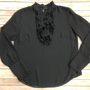 Primary Photo - BRAND: WHITE HOUSE BLACK MARKET STYLE: TOP LONG SLEEVE COLOR: BLACK SIZE: L SKU: 232-232121-5242