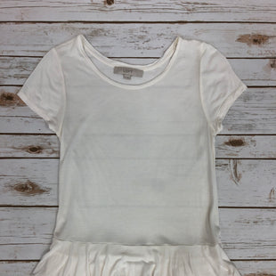 Primary Photo - BRAND: LOFT STYLE: TOP SHORT SLEEVE BASIC COLOR: CREAM SIZE: XS SKU: 232-23280-40252