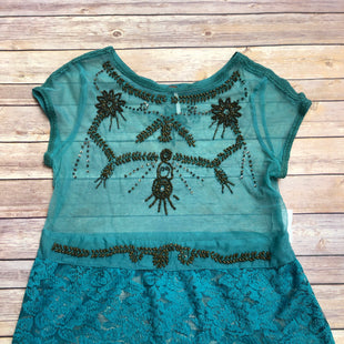 Primary Photo - BRAND: FREE PEOPLE STYLE: TOP SHORT SLEEVE COLOR: TEAL SIZE: L SKU: 232-23280-50466