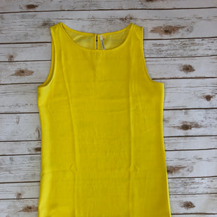 Primary Photo - BRAND:    CLOTHES MENTOR STYLE: DRESS SHORT SLEEVELESS COLOR: YELLOW SIZE: L OTHER INFO: MITTSHOP - SKU: 232-23290-37816SCALLOP TRIM. BUTTON UP IN BACK.