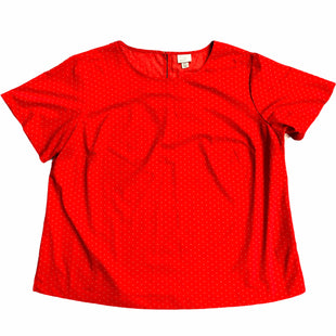 Primary Photo - BRAND: A NEW DAY STYLE: TOP SHORT SLEEVE COLOR: RED SIZE: 2X SKU: 232-232115-2210