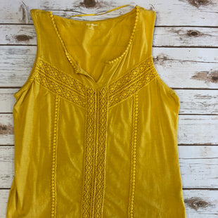 Primary Photo - BRAND: RUFF HEWN STYLE: TOP SLEEVELESS BASIC COLOR: YELLOW SIZE: M SKU: 232-23280-43841EMBROIDERED